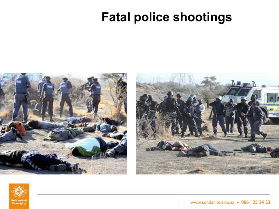 Titel van aanbieding – Subtitel van aanbieding Naam van aanbieder Plek, Datum Fatal police shootings