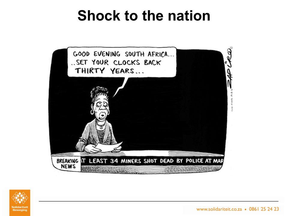 Titel van aanbieding – Subtitel van aanbieding Naam van aanbieder Plek, Datum Shock to the nation