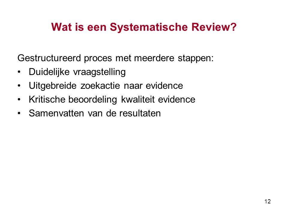 12 Wat is een Systematische Review.
