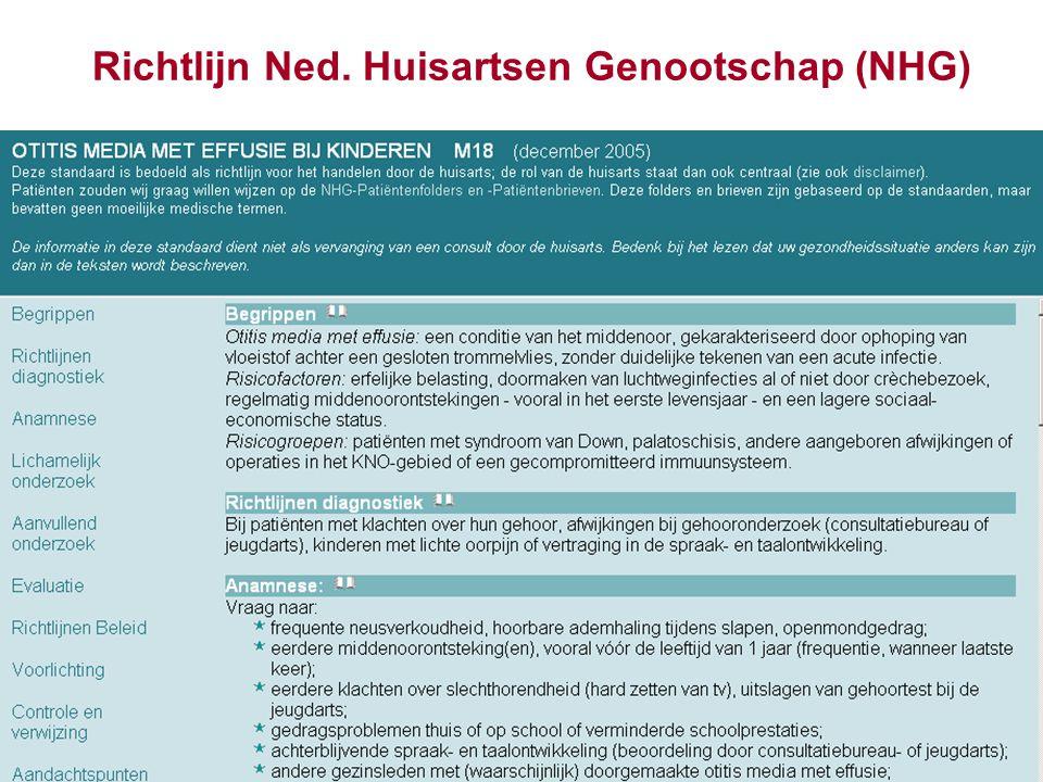 Richtlijn Ned. Huisartsen Genootschap (NHG)