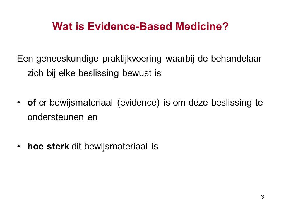 3 Wat is Evidence-Based Medicine.