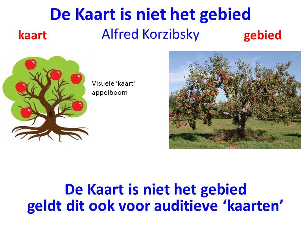 De Kaart is niet het gebied Alfred Korzibsky kaart gebied Visuele 'kaart' appelboom De Kaart is niet het gebied geldt dit ook voor auditieve 'kaarten'