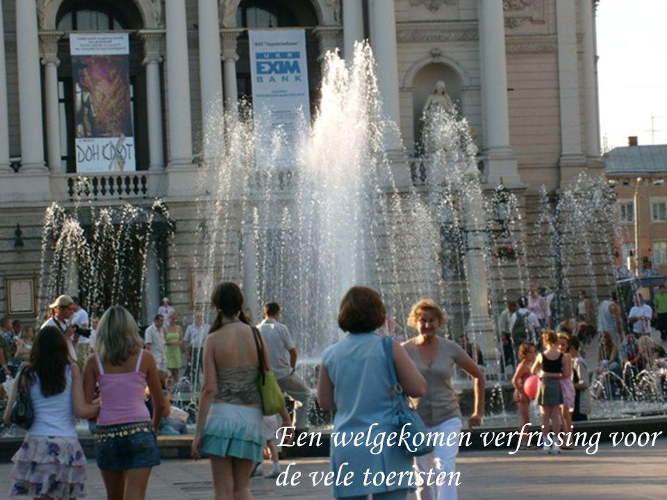 Een welgekomen verfrissing voor de vele toeristen