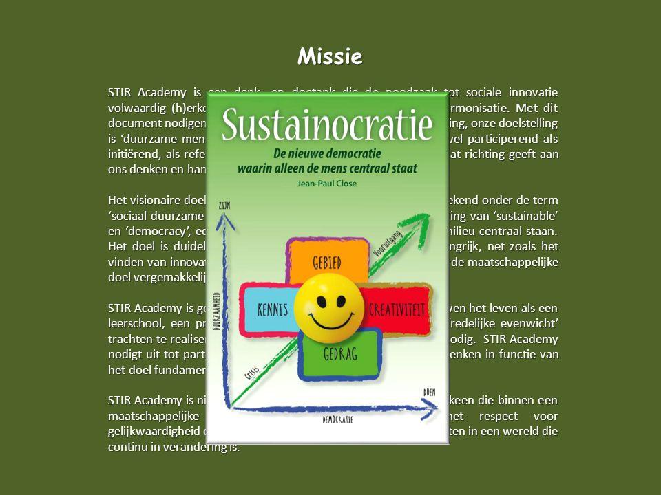 Missie STIR Academy is een denk- en doetank die de noodzaak tot sociale innovatie volwaardig (h)erkent, dit is de eerste stap naar herstel en harmonisatie.