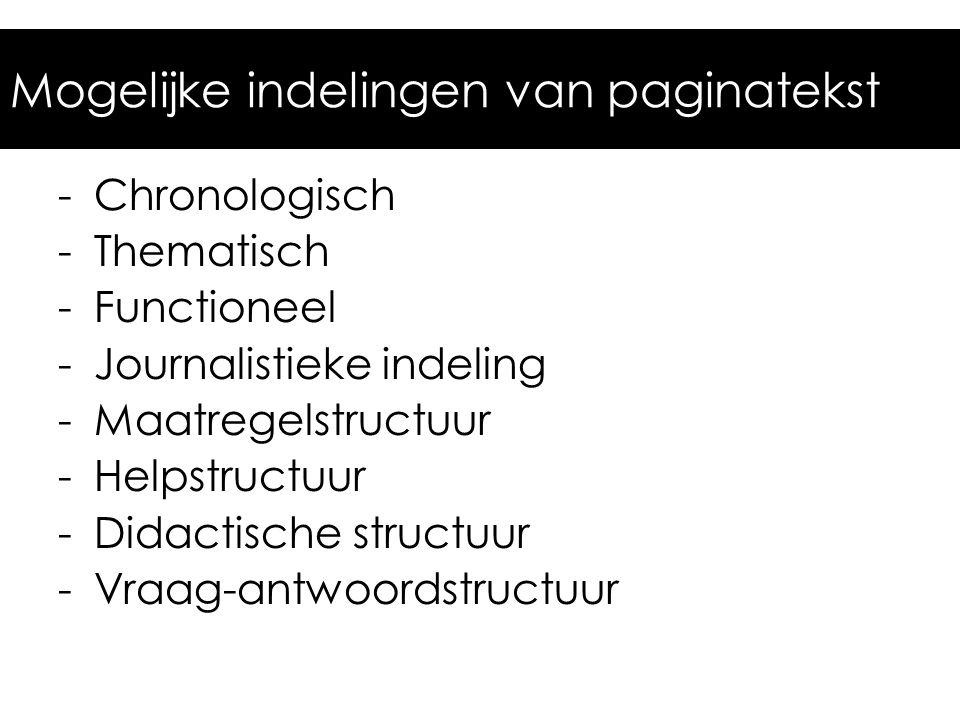 Journalistieke structuur De belangrijkste W-vragen.