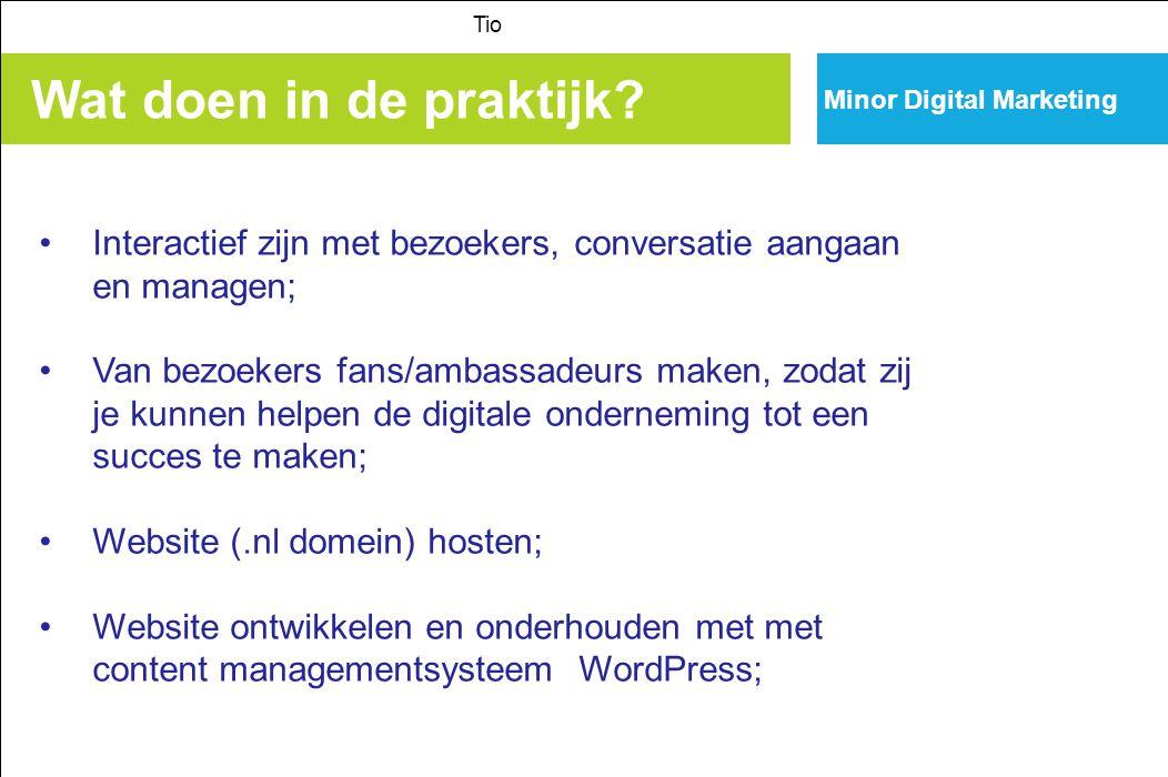 Minor Digital Marketing Wat doen in de praktijk.