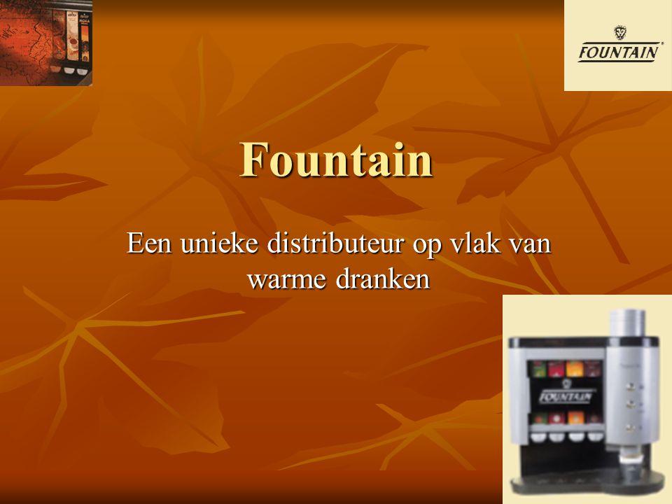 Een sterk concept Om in te spelen op de behoeften van bedrijven ontwikkelde Fountain een uniek, dynamisch en grensverleggend concept voor de distributie van warme dranken.
