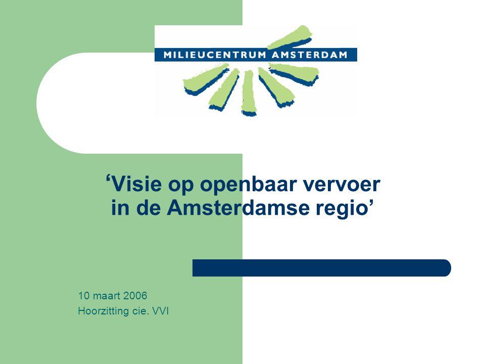 ' Visie op openbaar vervoer in de Amsterdamse regio' 10 maart 2006 Hoorzitting cie. VVI