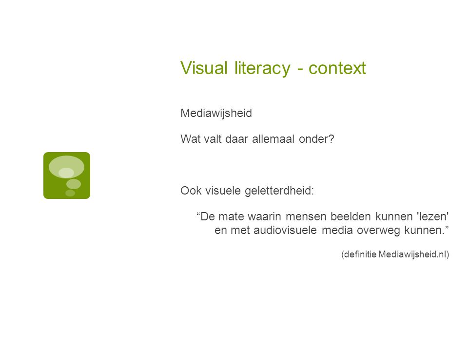 Visual literacy - context Beeldcultuur