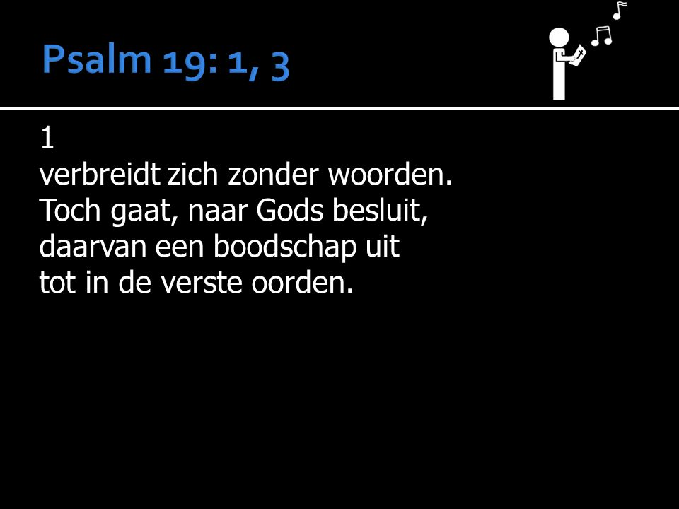3 Volkomen is Gods woord.
