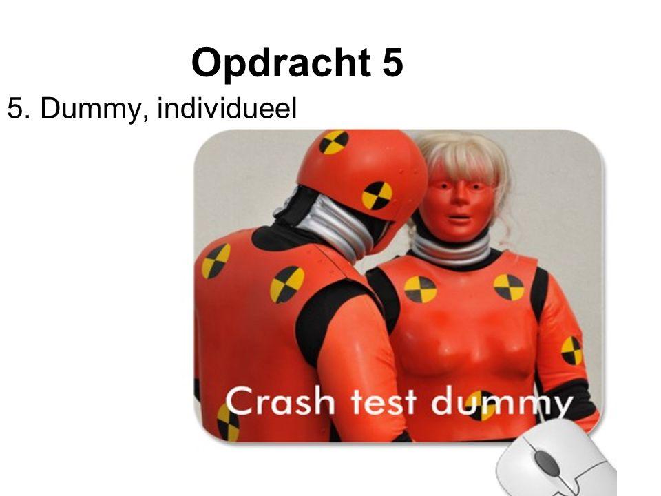 Opdracht 5 5. Dummy, individueel