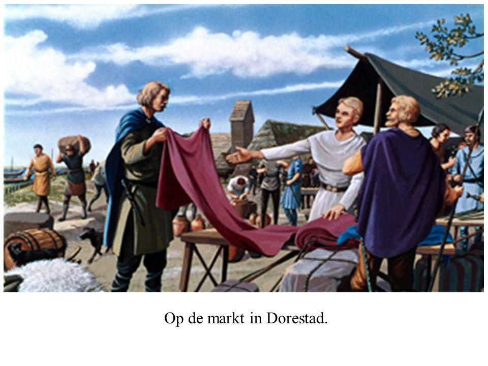 Op de markt in Dorestad.