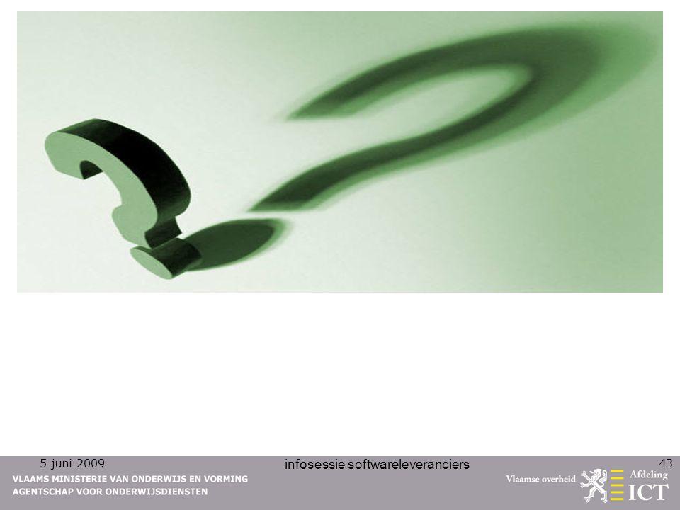 5 juni 2009 infosessie softwareleveranciers 43