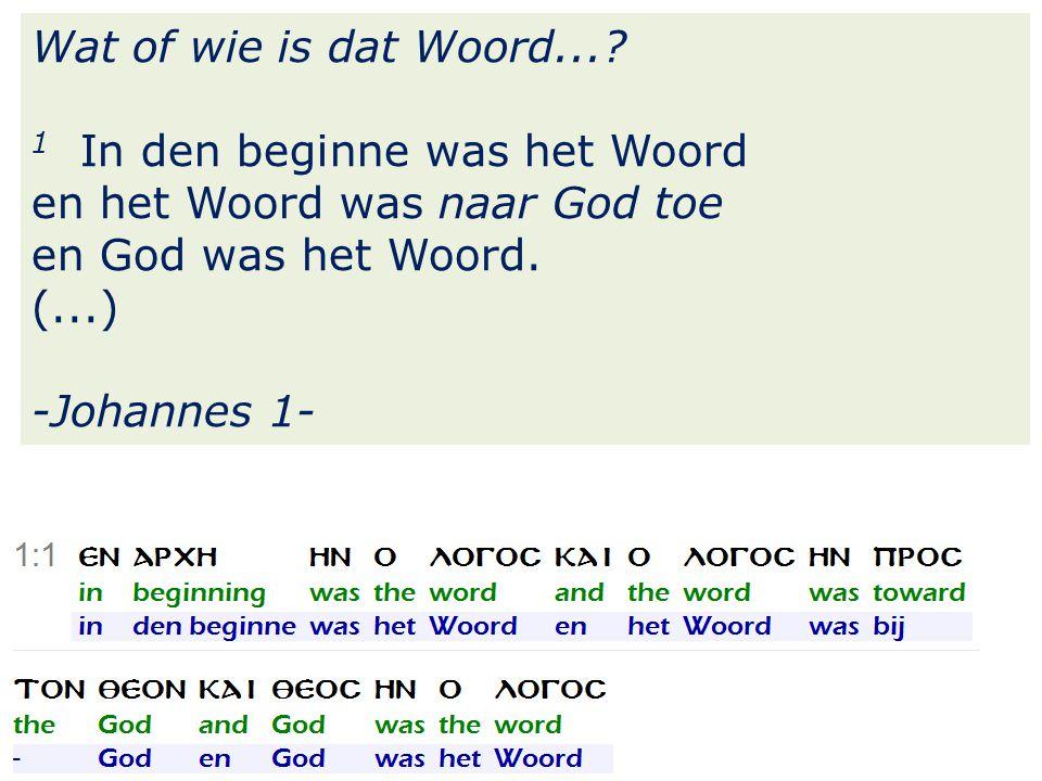 26 Wat of wie is dat Woord....