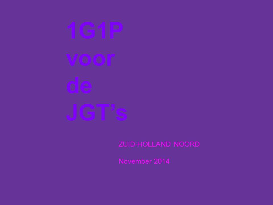 ZUID-HOLLAND NOORD November 2014 1G1P voor de JGT's