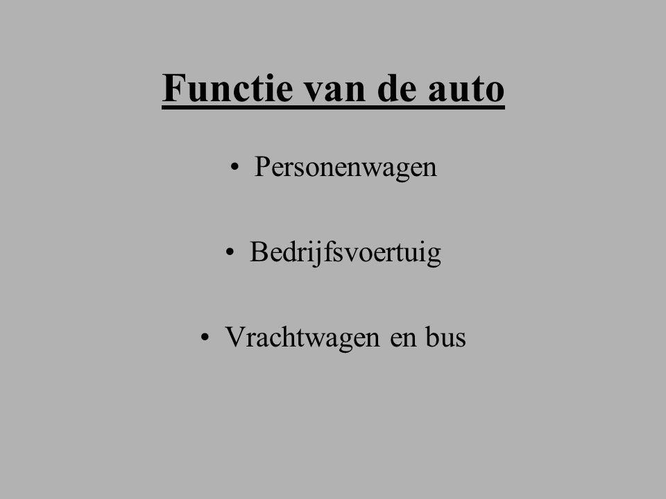 Functie van de auto Personenwagen Bedrijfsvoertuig Vrachtwagen en bus