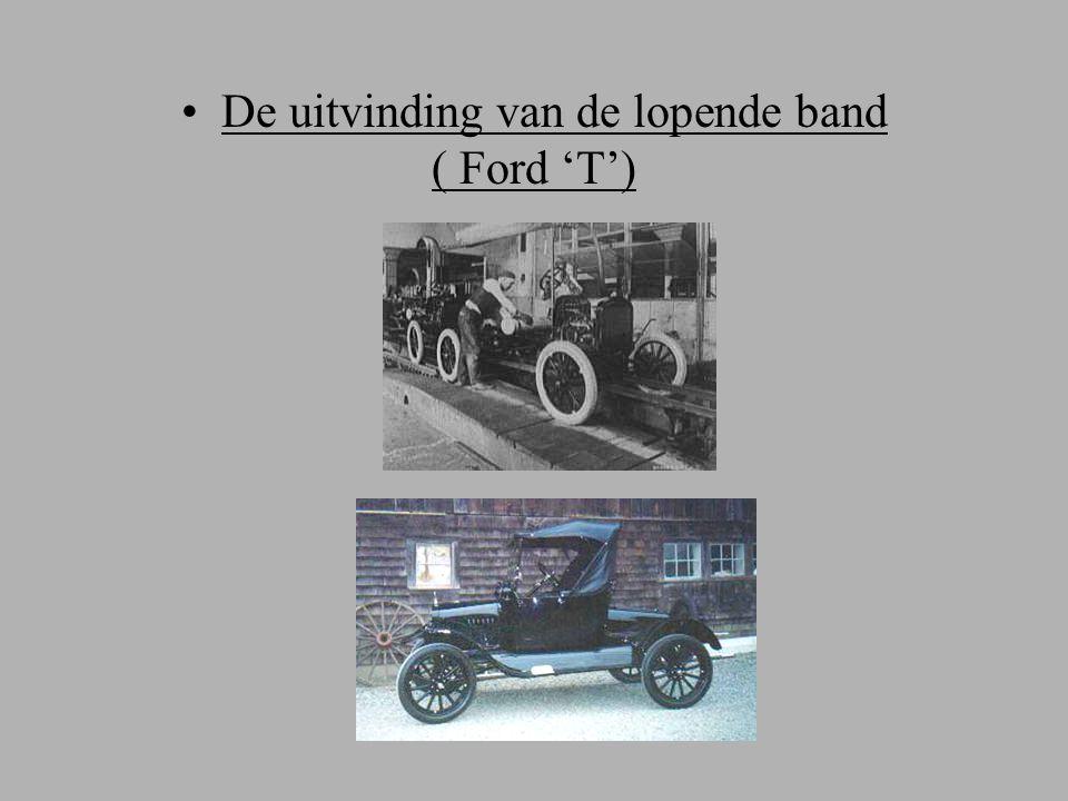 De uitvinding van de lopende band ( Ford 'T')