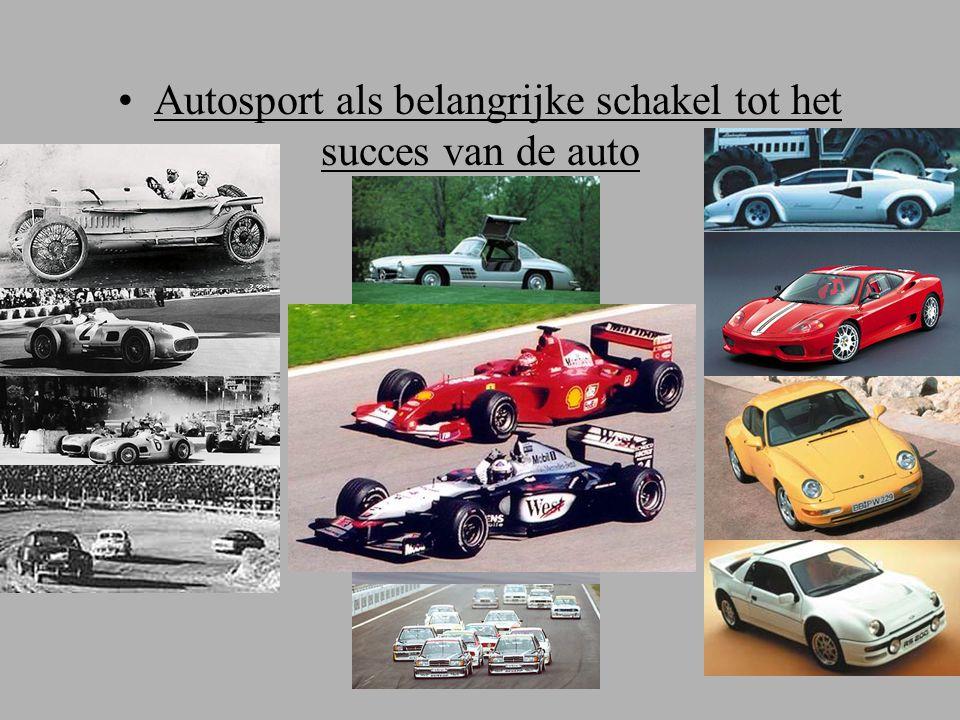 Autosport als belangrijke schakel tot het succes van de auto