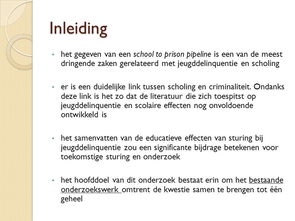 Inleiding het gegeven van een school to prison pipeline is een van de meest dringende zaken gerelateerd met jeugddelinquentie en scholing er is een duidelijke link tussen scholing en criminaliteit.
