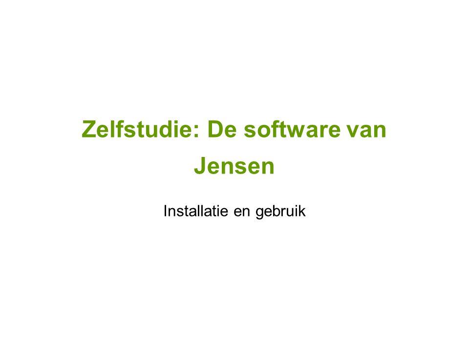 Zelfstudie: De software van Jensen Installatie en gebruik