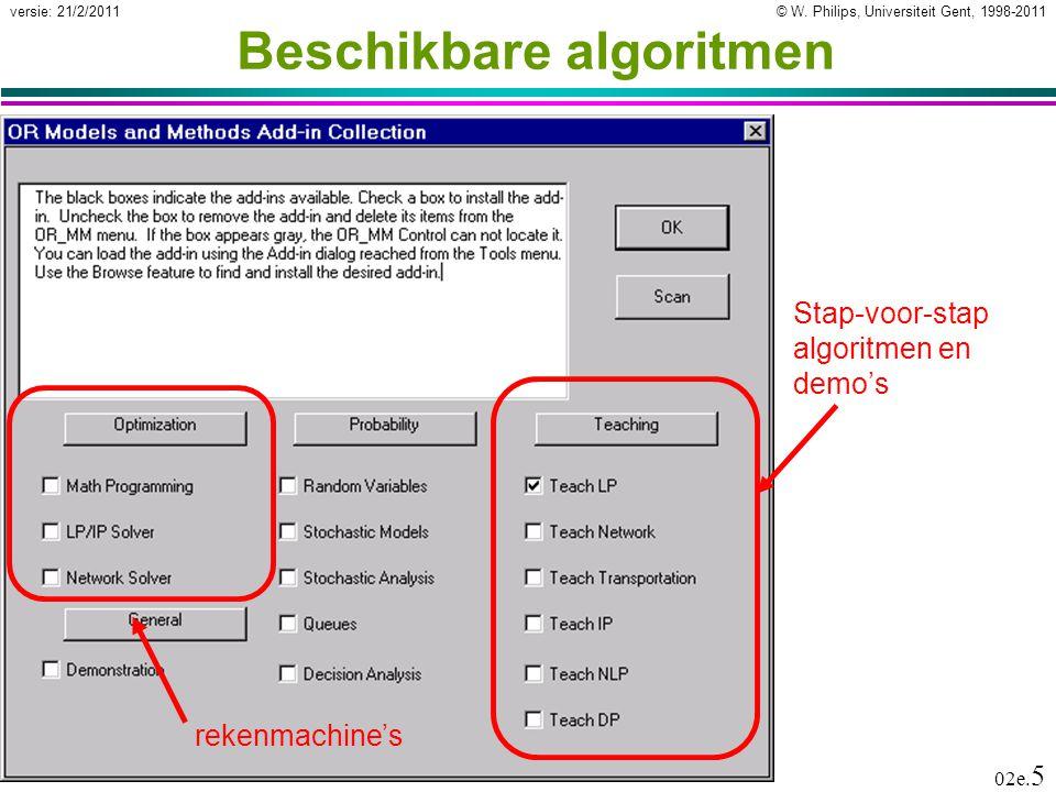 De software van Jensen Stap-voor-stap simplex