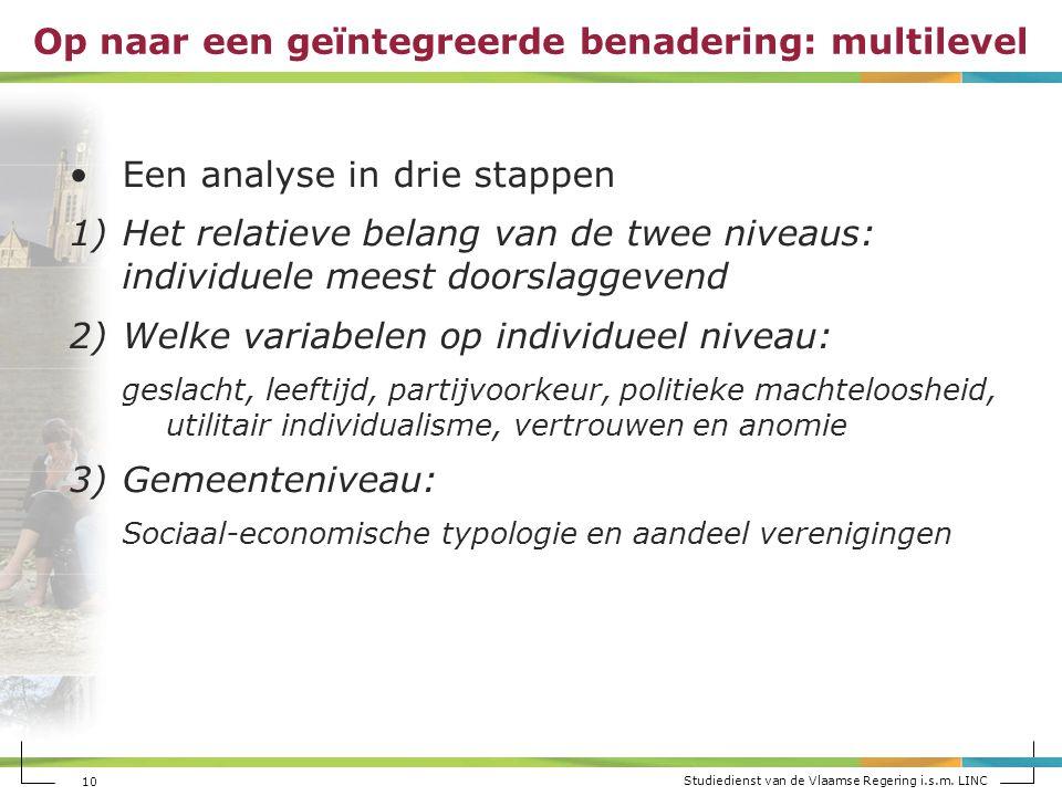 Studiedienst van de Vlaamse Regering i.s.m.