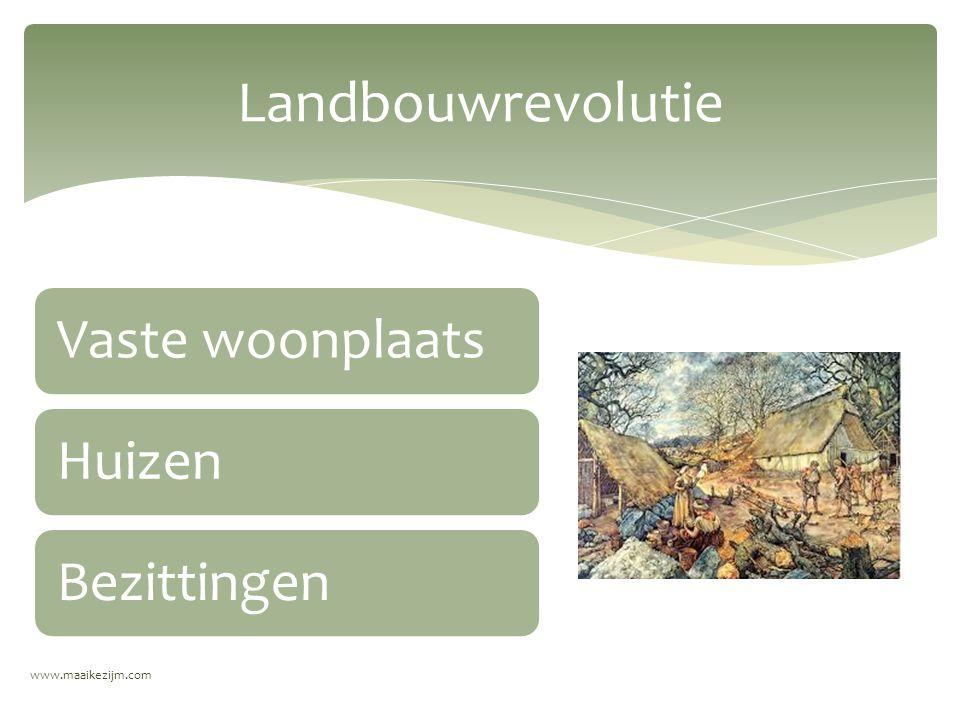 www.maaikezijm.com Landbouwrevolutie Vaste woonplaatsHuizenBezittingen