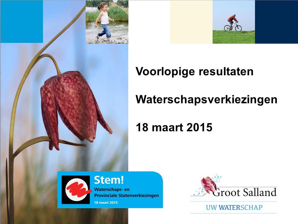 Voorlopige resultaten Waterschapsverkiezingen 18 maart 2015