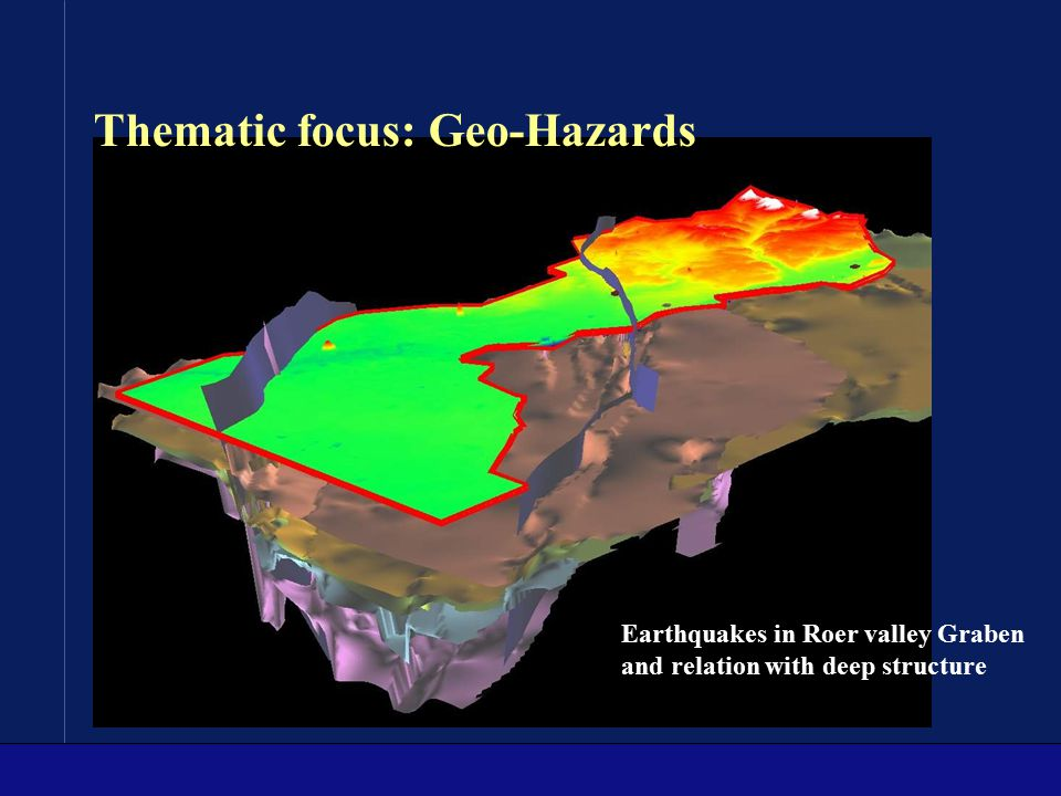 Earthquakes in Roer valley Graben and relation with deep structure Thematic focus: Geo-Hazards