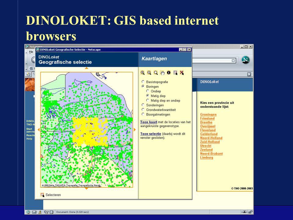 DINOLOKET: GIS based internet browsers