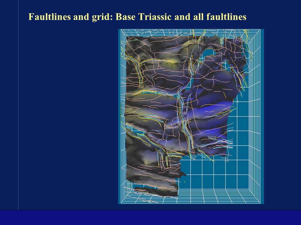 Faultlines and grid: Base Triassic and all faultlines