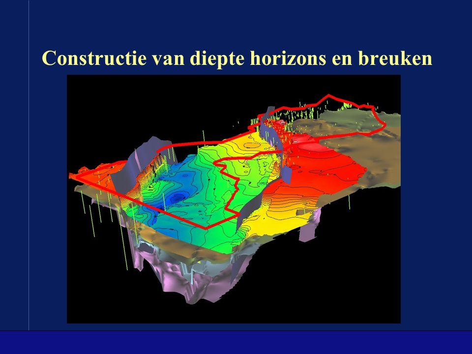 Nieuwe data types, inclusief grote volume data (1) Seismische data Log data van putten