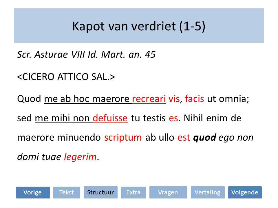 Kapot van verdriet (1-5) VertalingStructuur TekstExtraVorige VolgendeVragen Scr.