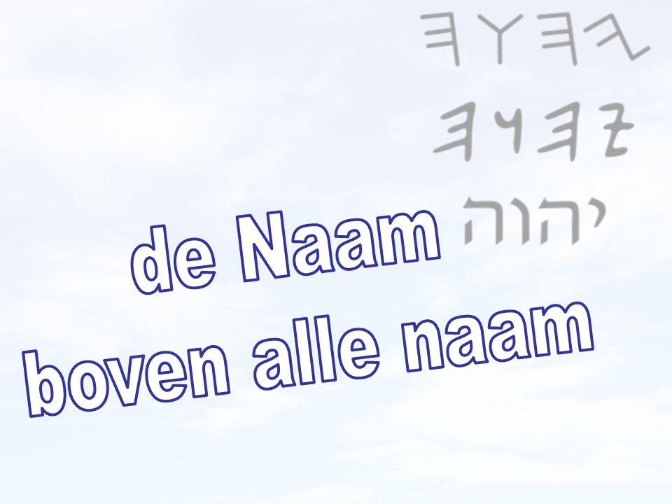 DE NAAM BOVEN ALLE NAAM 9 … en Hem DE NAAM BOVEN ALLE NAAM geschonken… Filippi 2 22