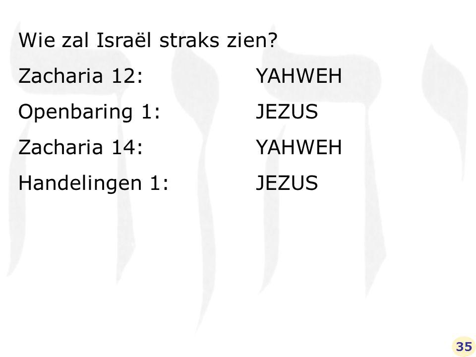 Wie zal Israël straks zien.