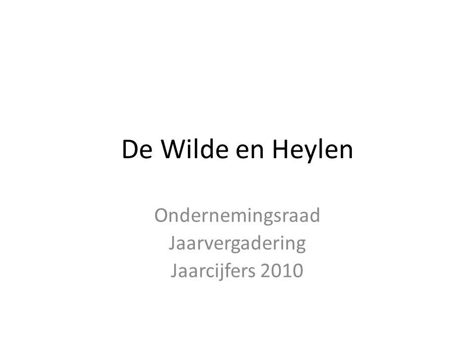 De Wilde en Heylen Ondernemingsraad Jaarvergadering Jaarcijfers 2010