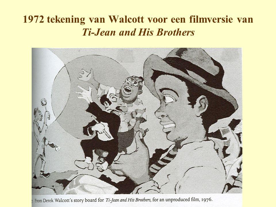 1972 tekening van Walcott voor een filmversie van Ti-Jean and His Brothers