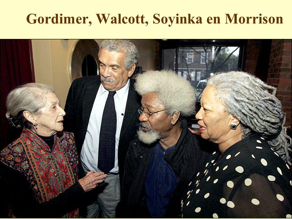 Gordimer, Walcott, Soyinka en Morrison