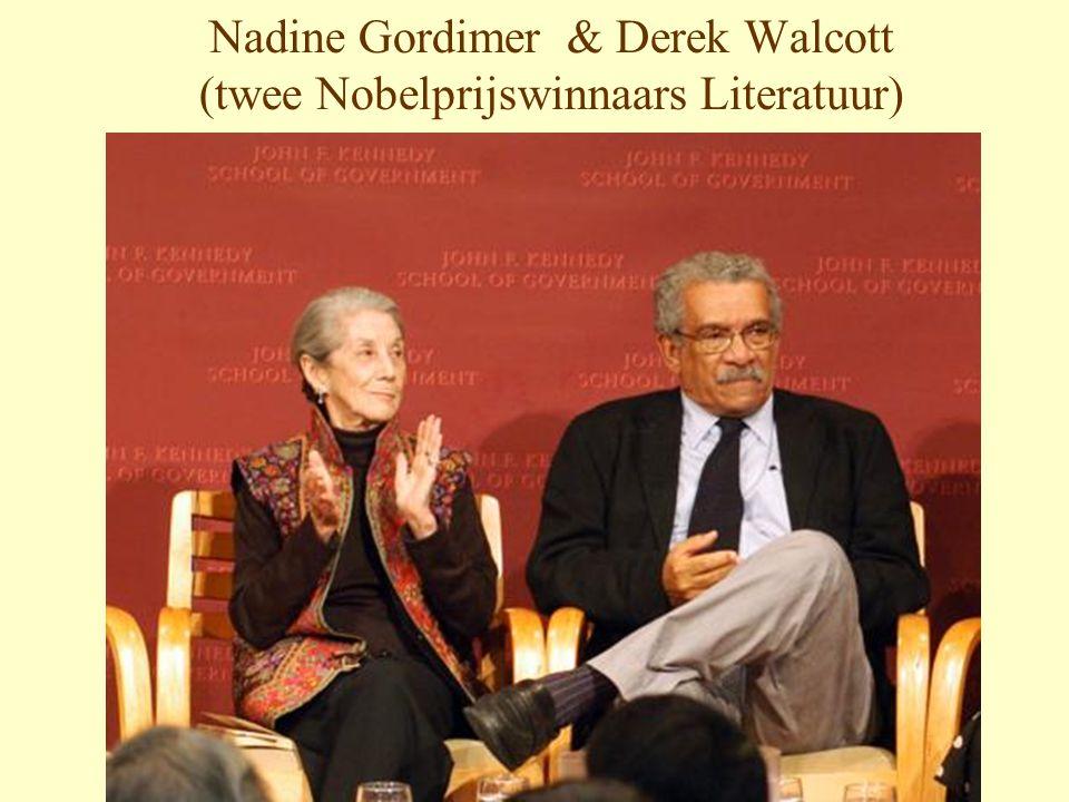 Nadine Gordimer & Derek Walcott (twee Nobelprijswinnaars Literatuur)