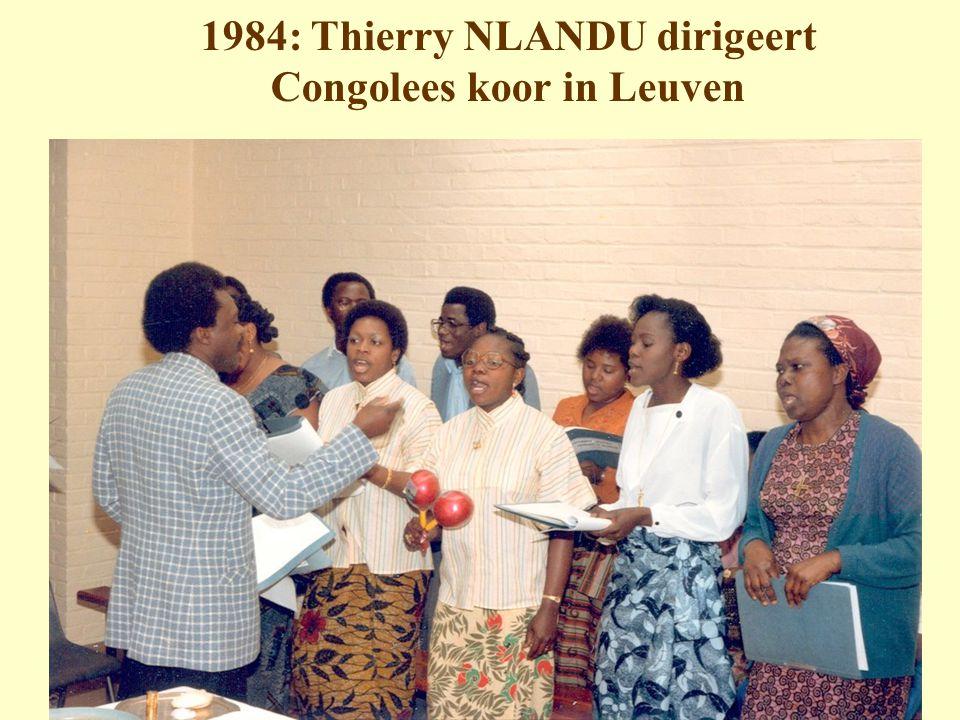 1984: Thierry NLANDU dirigeert Congolees koor in Leuven