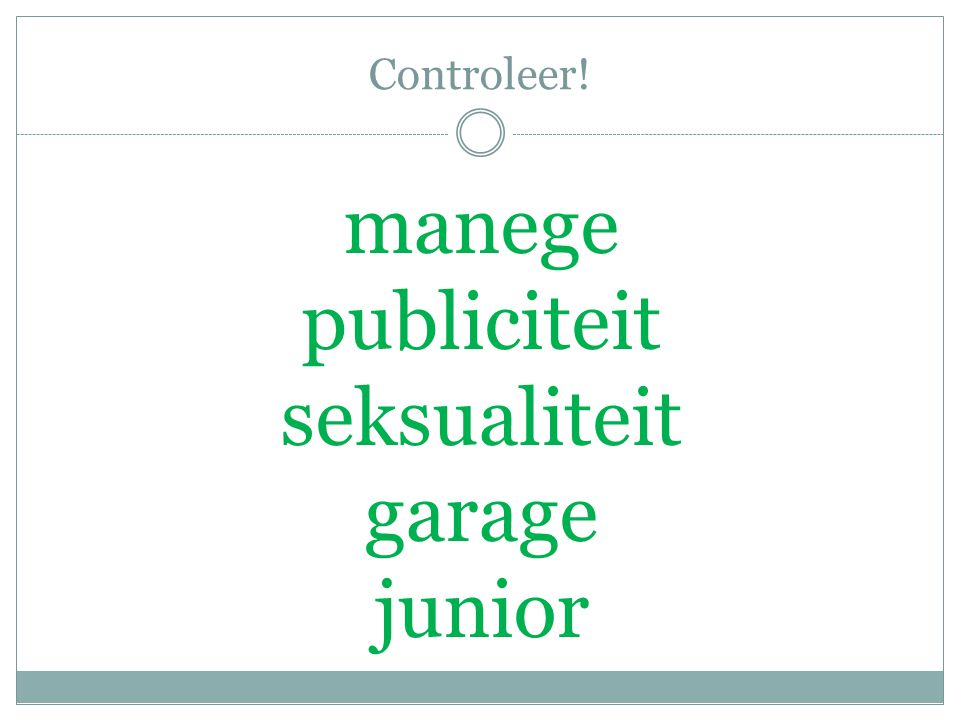 Controleer! manege publiciteit seksualiteit garage junior