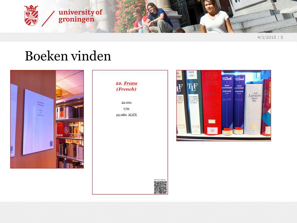 4/1/2015 | 16 Samenvatting Hulpmiddelen om je weg te vinden in de collectie: SmartCat : boeken, tijdschriften in Nederland, artikelen in online tijdschriften Bibliografieën : zoeken op onderwerp Libguide : overzicht van beschikbare bestanden per vakgebied