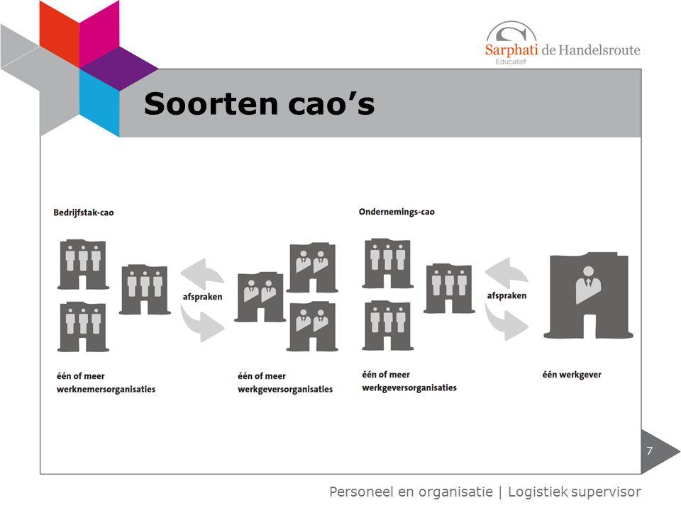 7 Personeel en organisatie   Logistiek supervisor Soorten cao's
