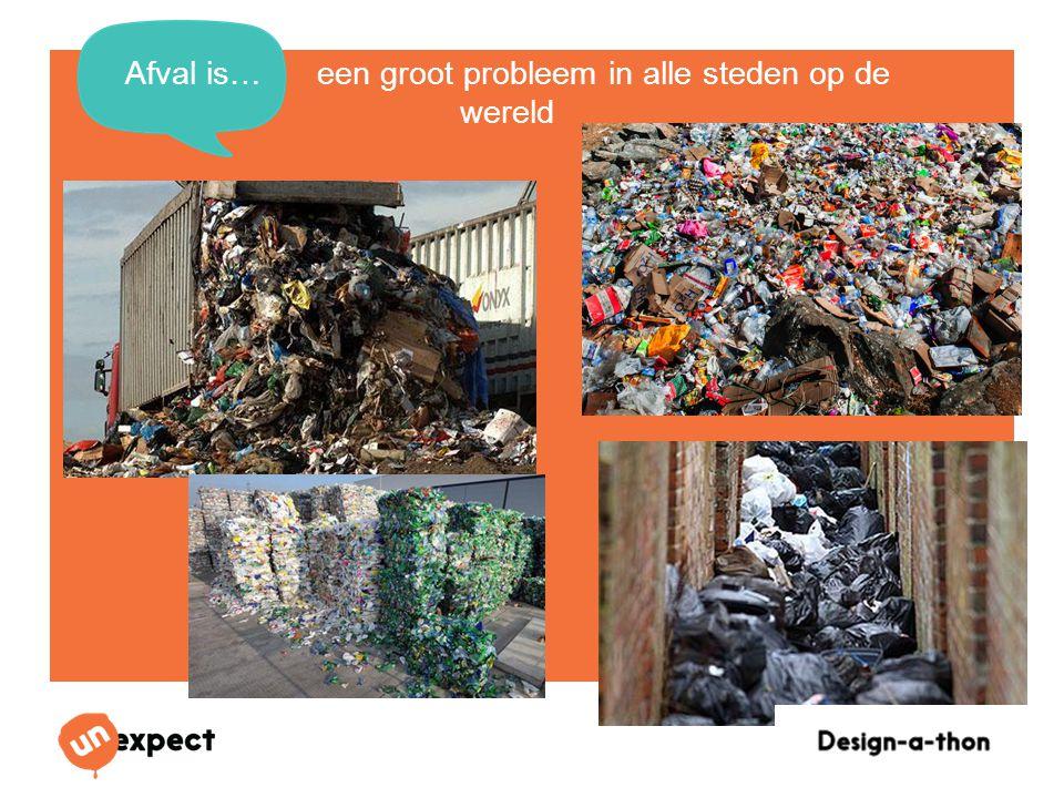 Design-a-Thon 16 Oktober 2014 Afval is… een groot probleem in alle steden op de wereld