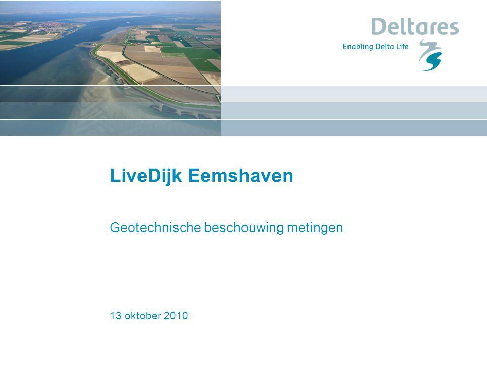 13 oktober 2010 LiveDijk Eemshaven Geotechnische beschouwing metingen