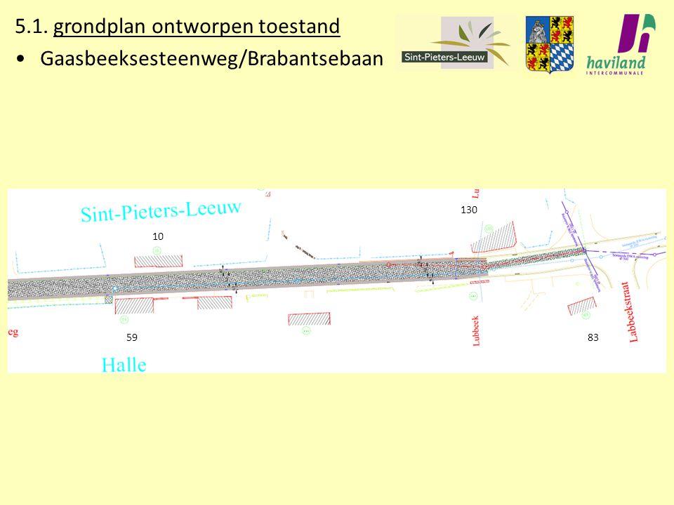 5.1. grondplan ontworpen toestand Gaasbeeksesteenweg/Brabantsebaan 8359 10 130