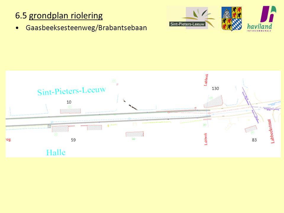 6.5 grondplan riolering Gaasbeeksesteenweg/Brabantsebaan 10 130 5983
