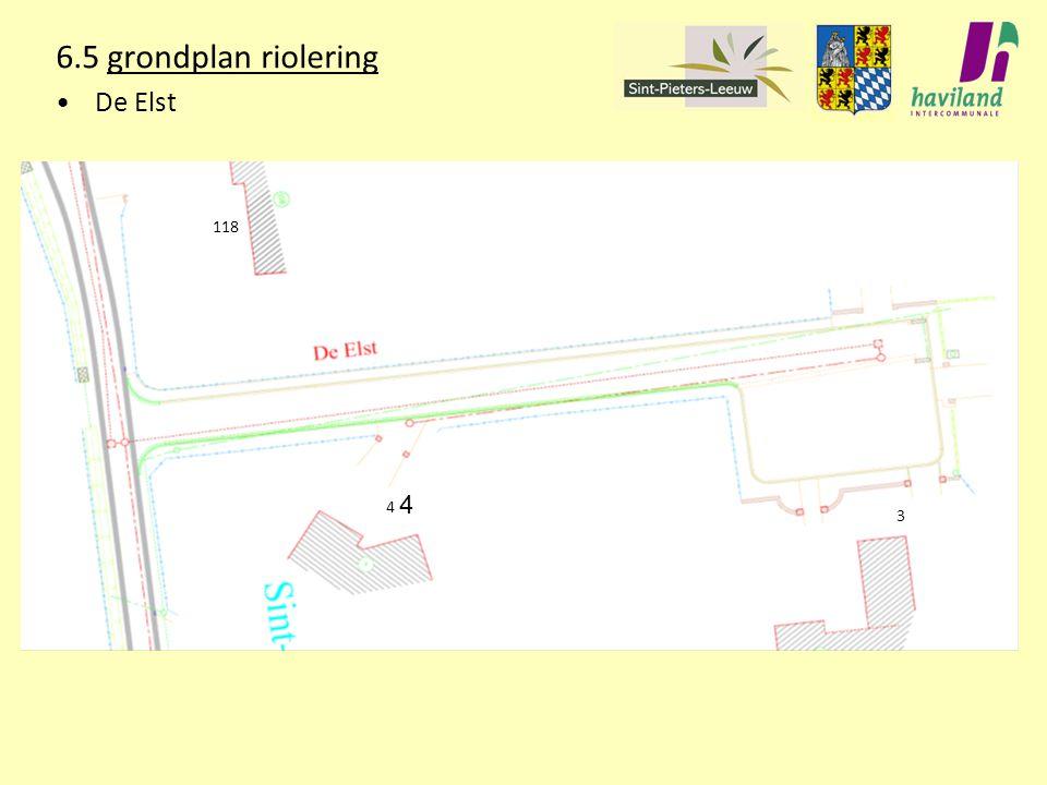 6.5 grondplan riolering De Elst 118 4 3 4