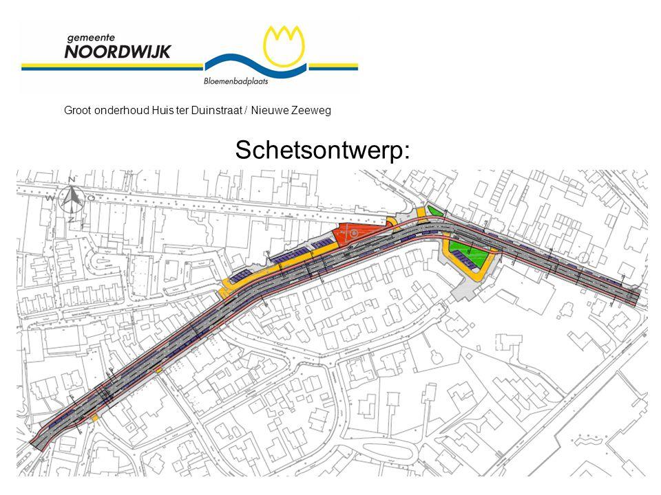 Groot onderhoud Huis ter Duinstraat / Nieuwe Zeeweg Schetsontwerp: