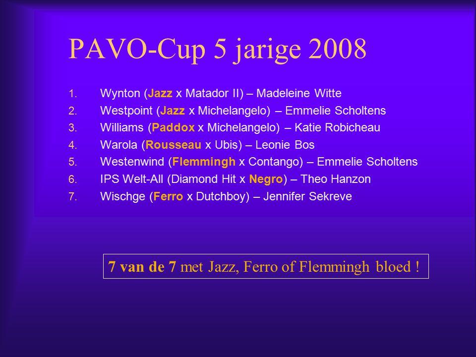 PAVO-Cup 5 jarige 2008 1.Wynton (Jazz x Matador II) – Madeleine Witte 2.
